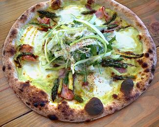Asparagus Pizza by Lars Smith