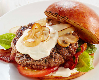 Bacon Burger with Président® Creamy Brie