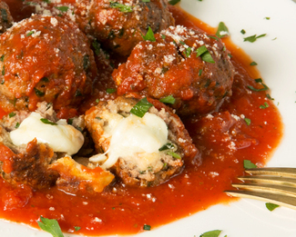 Donatella's Famous Stuffed Meatballs featuring Galbani® Cheese