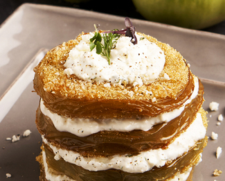 Fried Green Tomatoes With Président® Feta Dressing