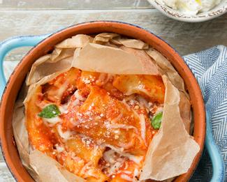 Galbani® Four Cheese Paccheri al Cardinale