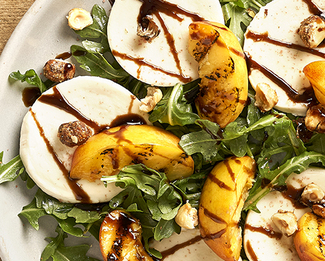 Galbani® Grilled Peaches With Fresh Mozzarella