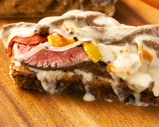 Galbani® Grilled Steak and Bel Paese Cheese Sandwich