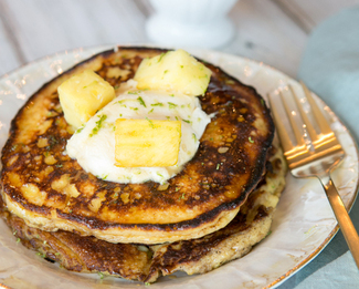 Galbani® Lime Ricotta Pancakes with Pineapple