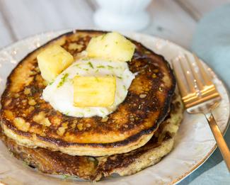 Galbani® Lime Ricotta Pancakes with Pineapple