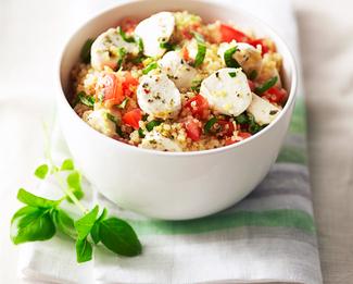 Quinoa Caprese Salad featuring Galbani® Fresh Mozzarella