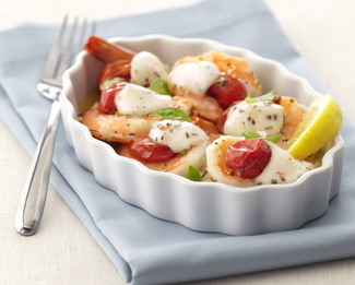 Roasted Shrimp Caprese featuring Galbani® Fresh Mozzarella