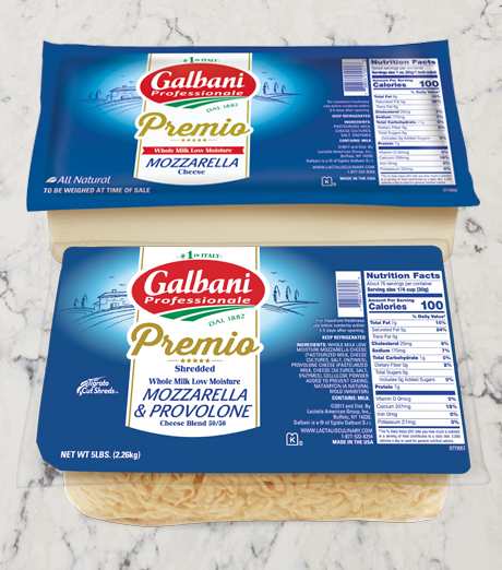 New Galbani Premio Packaging