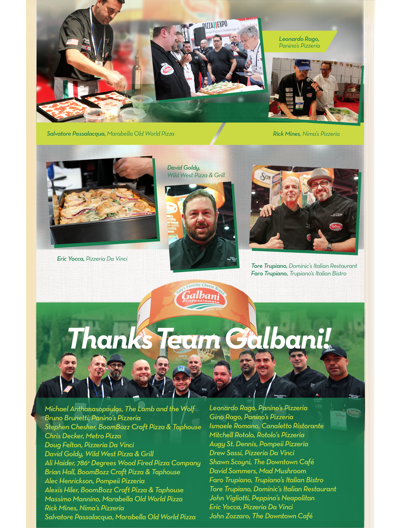 Thanks Team Galbani!
