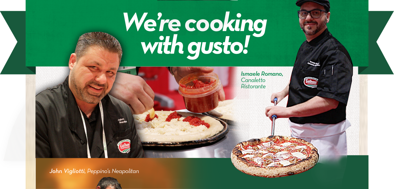 We're cooking with gusto